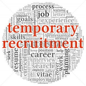 Temporary work increases
