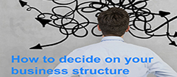 Deciding a Business Structure – it is important to find the structure that best suits your needs